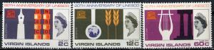 British Virgin Islands; 1966: Sc. # 176-178: **/MNH Cpl. Set
