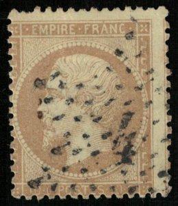 France, 1862-1871 Emperor Napoléon III, Perforated, MC #20 (4314-Т)