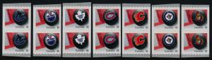 Canada 2662-8 coil pairs MNH Sports, Ice Hockey, NHL Team Logos