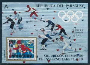 Paraguay- Lake Placid Olympic Games MNH #1902 Cross Country Sheet A (1980)