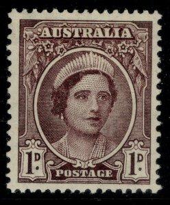 AUSTRALIA GVI SG203, 1d brown-purple, M MINT.