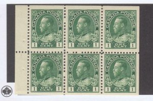 CANADA MXZ3 # 104a MNH 3 MLH KGV 1cts BOOKLET PANE OF 6 CAT VALUE $50