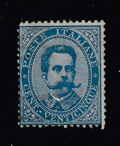 Italy a MH a 25c blue from 1879