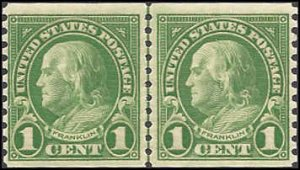597 Mint,OG,NH... Line Pair... SCV $4.00