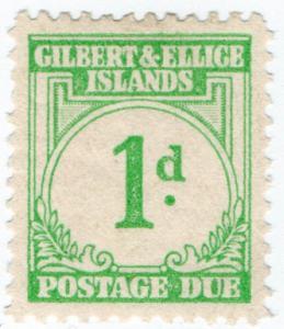(I.B) Gilbert & Ellice Islands Postal : Postage Due 1d