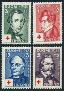 Finland B87-B90,MNH.Michel 349-352. Red Cross-1948.Doctors.Zachris Topelius,