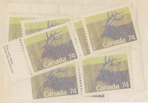 Canada USC #1177 Mint 1988 74c Wapiti (10) Inc. Block of Four - VF-NH