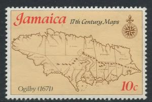 Jamaica - Scott 420 - Maps Issue -1977 - MNH - Single 10c Stamp