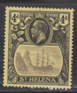 ST HELENA Scott # 95 MH - King George V & Badge Of The Colony