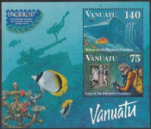 Vanuatu 1997 MNH Sc #696a Lady, Wreck of President Coolidge - Year of the Cor...
