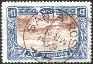 BRITISH GUIANA 1898 Sc 156, Used VF 15c  Mt Roraima, SOTN  SANTA ROSA postmark