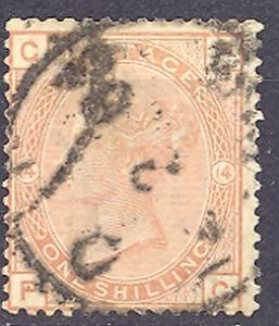 Great Britain #87 Used  F-VF Plate 14
