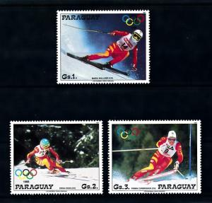[92274] Paraguay 1987 Olympic Games Calgary Skiing From Set MNH