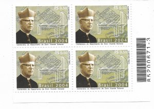 BRAZIL BRASIL 2004 THE 100TH ANNIVERSARY OF BIRTH OF DOM VICENTE SCHERER Mi 3352
