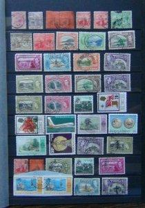 Trinidad & Tobago QV - QE2 range 1938 values to 60c 1953 values to 60c Used