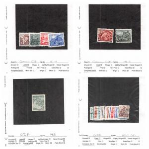 Lot of 60 Germany DDR Used Stamps Scott Range 48 - 204 #141378 X R