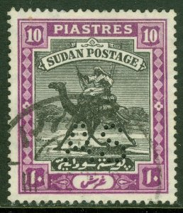 EDW1949SELL : SUDAN 1914 SG #A25 Ovpt 'AS' punctured. Very Fine, Used. Cat £275.