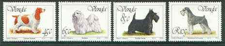 Venda 1994 Dogs set of 4 unmounted mint, SG 264-67