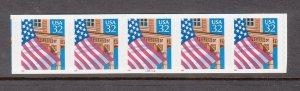 USA PNC SC# 2915A FLAG OVER PORCH $0.32c PL# 13211A -10X10 PNC5 S.A.MNH