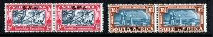 SOUTH WEST AFRICA 1938 Voortrekker Commemoration Pairs Set SG 109 & SG 110 MINT