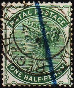 Natal. 1874 1/2d S.G.97a Fine Used