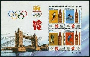 Sri Lanka 1847a,MNH. Olympics London-2012.Big Ben.Running,Swimming,Shooting,