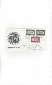 United Nations #35-7 First Day Cover Official Cachet