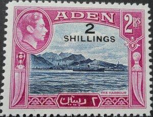 Aden 1951 GVI Two Shillings opt SG 44 mint