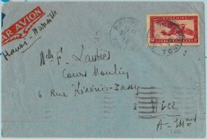 91268 - INDOCHINE - Postal History - AIRMAIL COVER from HAI-PHONG to FRANCE 1938
