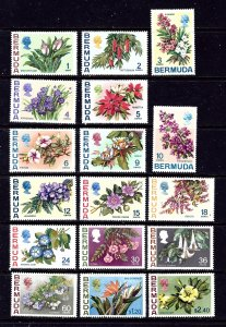 Bermuda 255-91 MNH 1970 Definitive