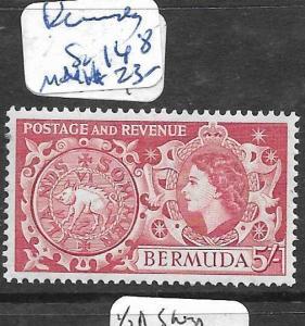 BERMUDA   (PP1905B)  QEII  5/-  SG 148  MNH