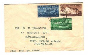 New Zealand Sc#327-329 Fist Day Cover