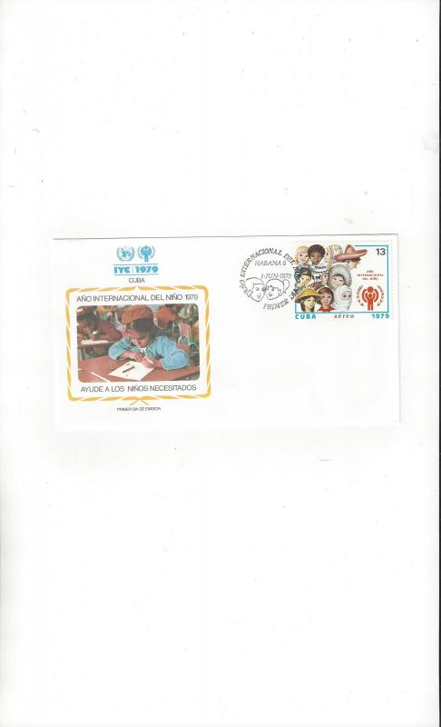 Cuba FDC International Year of the Child 1979 Official Cachet