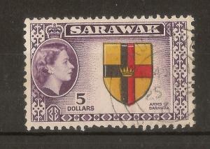 Sarawak 1957 $5 SG202 Fine Used Cat£23