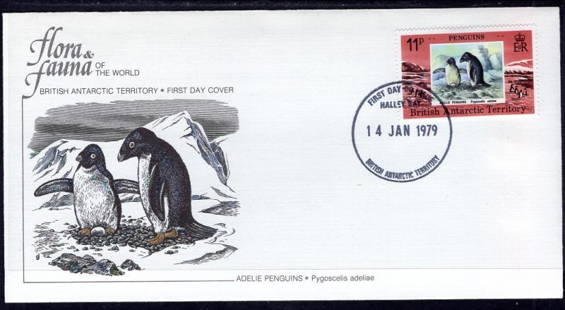 British Antarctic Territory 74 Penguin Fleetwood U/A FDC