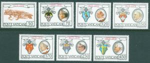VATICAN Scott 657-663 MNH** 1979 City state set CV $2.00