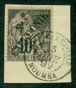 New Caledonia #24  Used On Piece  Scott $82.50
