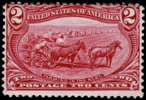 United States Scott 286 (1898) Mint H F, CV $22.50 D