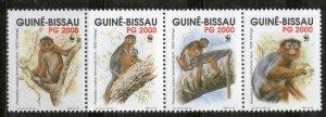 Guinea-Bissau MNH Strip 944 Western Red Colobus Monkeys WWF 1992