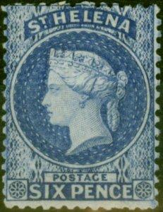 St Helena 1871 6d Dull Blue SG16 V.F & Fresh Lightly Mtd Mint