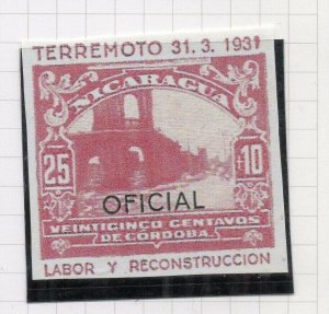 Nicaragua 1931 PROOF Issue Fine Mint Hinged 25c. Optd Official NW-14288