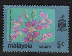 Malaysa Sabah  Scott 34 Used Flower stamp