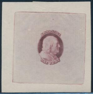 #63-E2a DIE ESSAY ON PROOF PAPER (RED VIOLET) BR8116