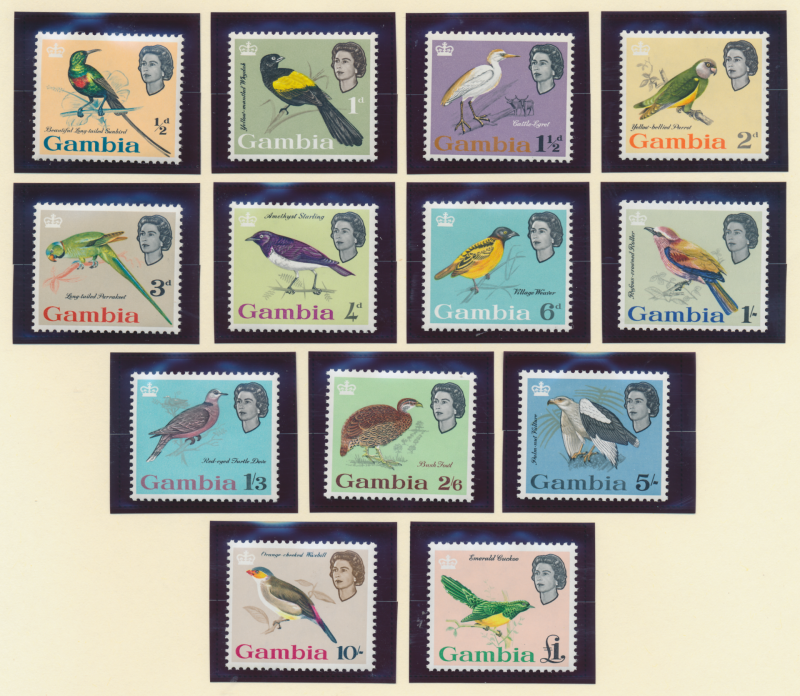 Gambia Stamps Scott #175 To 187, Mint Never Hinged - Free U.S. Shipping, Free...