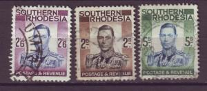 J20933 Jlstamps 1937 south rhodesia hv,s of set used #52-4 king