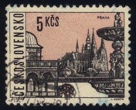 Czechoslovakia #1353 Prague, CTO (0.25)