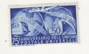 J21541 Jlstamps 1949 italy set of 1 mh #514 transportation