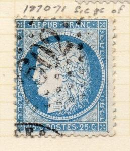 France 1870-71 Ceres Early Issue Fine Used 25c. 228875