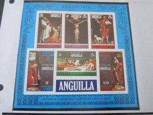 Anguilla 1975 Sc 216a Christmas Religion set MNH