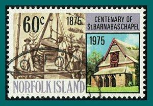 Norfolk Island 1975 Barnabas Chapel, 60c used #191,SG169
